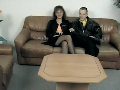 Echtes Paar hat Sex beim Pornocasting